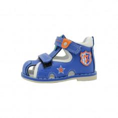 Sandale ortopedice baieti Tom Miki B-1906AL, Albastru