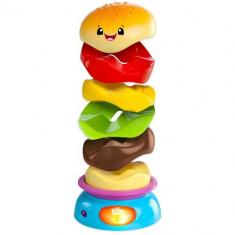 Jucarie Muzicala Stack'n Spin Burger - Jucarie pentru patut Bright Starts