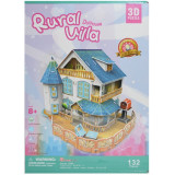 Puzzle 3D Casuta rurala 132 piese, cubic fun
