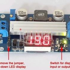 Sursa in comutatie step up dc-dc 3~35v to 3.5~35v 6a maxim ltc1871 + voltmetru