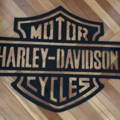 Reclama metalica, sablon, Harley Davidson, marime mare