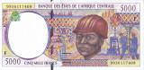 Bancnota Statele Africii Centrale 5.000 Franci 1999 - P304Fe UNC
