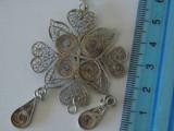 Lantisor si pandant argint vintage filigran -2842