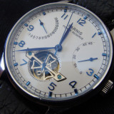 Ceas Parnis Portuguese 43 mm Power Reserve Open Heart Automatic Seagull, Mecanic-Automatic