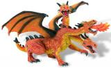Figurina - Dragon portocaliu cu 3 capete, Bullyland