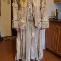 Costum carnaval-petrecere-haloween dama(made in England), Marime: L, Culoare: Maro