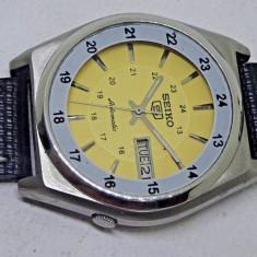Ceas automatic Seiko - 3 - Ceas barbatesc Citizen, Casual, Mecanic-Automatic, Inox, Piele, Ziua si data