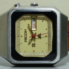 Ceas automatic Ricoh - 1 - Ceas barbatesc Citizen, Casual, Mecanic-Automatic, Inox, Piele, Ziua si data