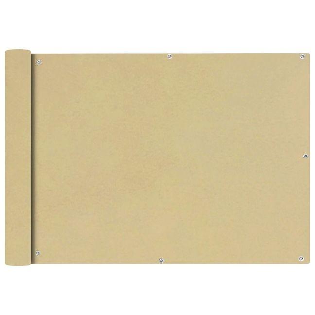 Prelata balcon, material textil oxford, 75 x 400 cm, bej foto mare