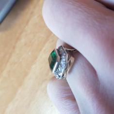 Inel princiar smarald - Inel aur, Carataj aur: 18k, Culoare: Galben