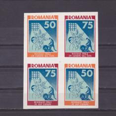 EXIL-SPANIA,CRACIUN 1963 NEUZAT IN BLOC ,ROMANIA