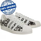 Pantofi sport Adidas Originals Superstar 80 pentru femei - adidasi originali, 36 2/3, 38, Piele intoarsa