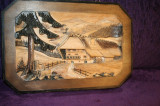 Tablou BASOLERIEF  lemn masiv