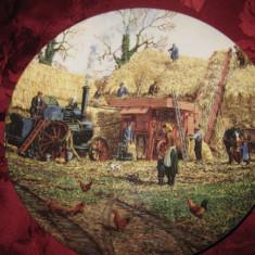 FARFURIE DECORATIVA PORTELAN ENGLEZESC WEDGWOOD QUEENS WARE -  THE FARM YEAR