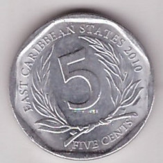 East Caribbean States 2010 - 5 cents