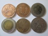 Lot 6 monede straine colectie,vedeti foto, Europa, Cupru-Nichel