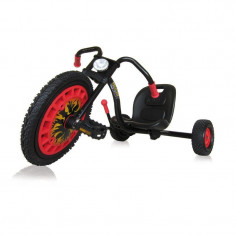 Go Kart Typhoon - Black Red - Kart cu pedale