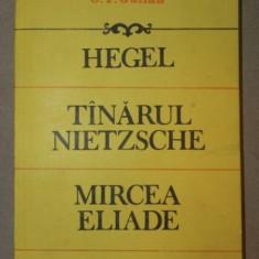 HEGEL, TANARUL NIETZSCHE, MIRCEA ELIADE-C.I GULIAN BUCURESTI 1992 - Carte Psihologie