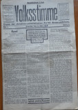 Volksstimme, organ al part. creștin - socialist din Romania Mare , nr. 1 , 1930