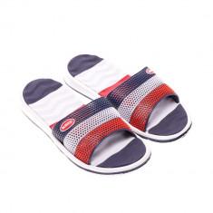 Papuci barbati E132 albastru cu rosu