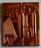 Intreprinderea VULCAN din BUCURESTI 1983 UTILAJ PETROLIER Medalie in cutie