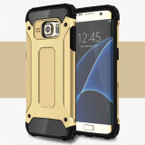 Husa Samsung Galaxy S7 Edge - Hybrid Armour Gold, Gel TPU