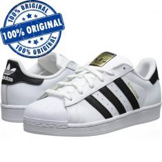 Pantofi sport Adidas Originals Superstar pentru femei - adidasi originali piele - Adidasi dama, Culoare: Alb, Marime: 38, Piele naturala