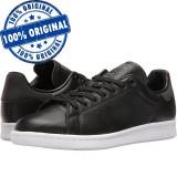 Pantofi sport Adidas Originals Stan Smith pentru femei - adidasi originali piele, 36, Negru, Piele naturala