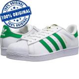 Pantofi sport Adidas Originals Superstar Foundation pentru barbati - originali, 40 2/3, Alb, Piele naturala