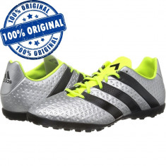 Pantofi sport Adidas Ace 16.4 pentru barbati - adidasi fotbal - originali, 43 1/3, 44, Argintiu