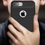 Husa iPhone 7 Plus - Carbon Brushed Black, iPhone 7/8 Plus, Gel TPU