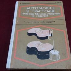 M CONSTANTINESCU - AUTOMOBILE SI TRACTOARE MANNUAL, M. Constantinescu