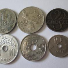 Lot 6 monede straine colectie, vedeti foto, Europa, An: 1912, Cupru-Nichel