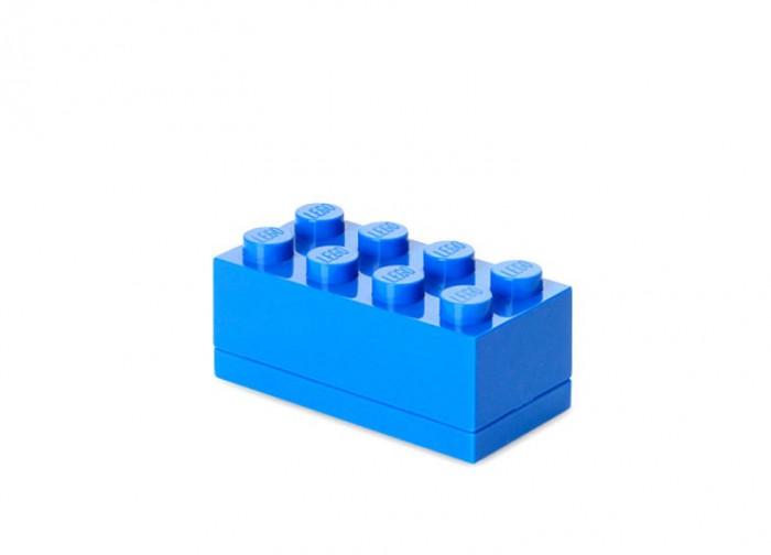 Mini cutie depozitare LEGO 2x4 albastru inchis foto mare