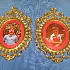 Set 2 Rame stil Rococo Foto Copii sticle bombata, pereche in stare F.B.