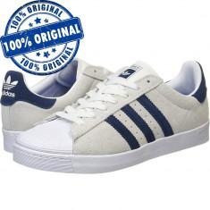 Pantofi sport Adidas Originals Superstar Vulc pentru barbati - adidasi originali - Adidasi barbati, Marime: 42, 43 1/3, Culoare: Din imagine, Piele intoarsa