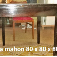 Masa mahon (negru) pentru 4 persoane 80 x 80 x 80 cm - Masa living