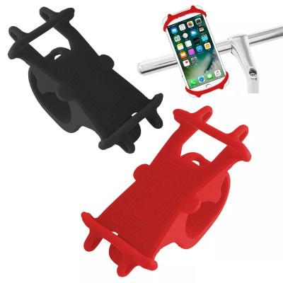 Suport de bicicleta pentru telefon mobil din silicon, cod:10105910 foto