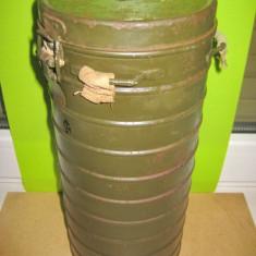 Concordia-Cutie militara Masca Gaze Romania 1939 metal.