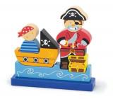 Puzzle 3D magnetic - Pirat, New Classic Toys