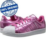 Pantofi sport Adidas Originals Superstar pentru femei - adidasi originali, 37 1/3, 38, Roz, Piele sintetica