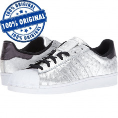 Pantofi sport Adidas Originals Superstar pentru barbati - adidasi originali - Adidasi barbati, Marime: 41 1/3, 42, 43 1/3, Culoare: Argintiu, Piele naturala