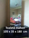 Toaletă mahon (negru) cu oglindă dreptunghiulară 105 x 35 x 180 cm