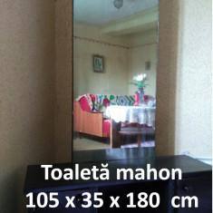 Toaletă mahon (negru) cu oglindă dreptunghiulară 105 x 35 x 180 cm - Oglinda dormitor