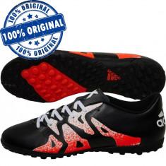 Pantofi sport Adidas X 15.4 pentru barbati - adidasi fotbal - originali, 44, Negru