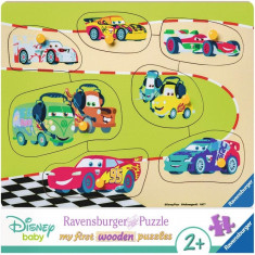 Puzzle Ravensburger din lemn Cars - 7 piese