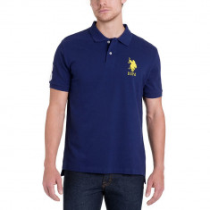 Tricou Polo US POLO ASSN - Tricouri Barbati - 100% AUTENTIC - Tricou barbati US Polo Assn, Marime: S, L, Culoare: Bleumarin, Maneca scurta, Poliester