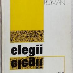 RADU ANTON ROMAN - ELEGII (VERSURI, 1980)[dedicatie/autograf pt VALERIU PANTAZI] - Carte poezie