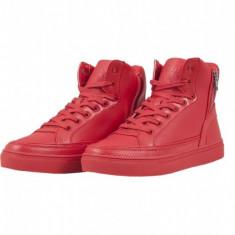 Zipper High Top Shoe foc-rosu 36