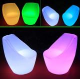 Scaun bar LED RGBW, telecomanda, 73 cm, IP54, autonomie 12h